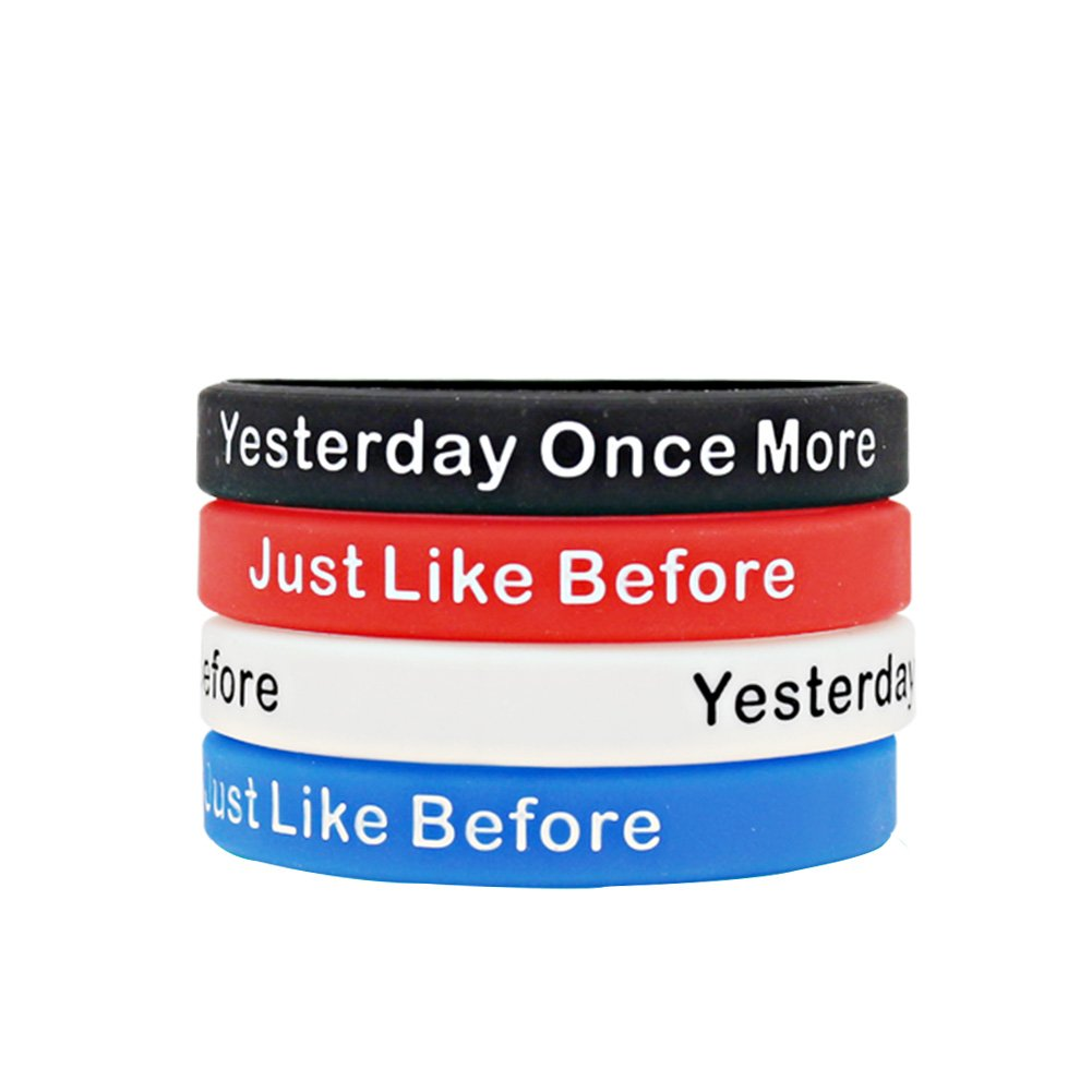 springpear 4 xシリコンスポーツFitness Wristbands with Words