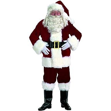 d1c4bfa11 Amazon.com  Professional Velvet Santa Adult Suit  Clothing
