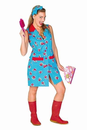 Damen Kostum Putzfrau Putzschurze Karneval Fasching Gr 40 Amazon De