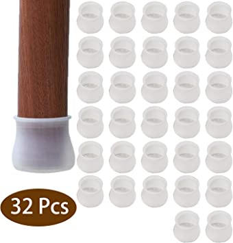 16//32pcs Table Chair Cap Pad Thicken Furniture Feet Cover Floor Protector Tool