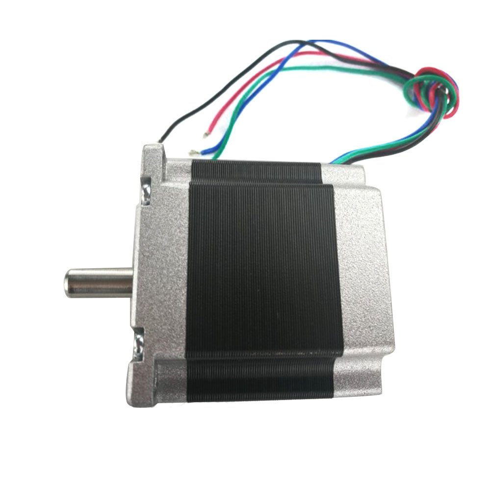 TEN-HIGH 57 two-phase stepper motor with brake, 76mm length, Nema 23, 24v 3A 10KG/CM, can using for vertical motion, engraving machine, CNC equipment available.