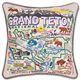 GRAND TETON HAND EMBROIDERED PILLOW - CATSTUDIO