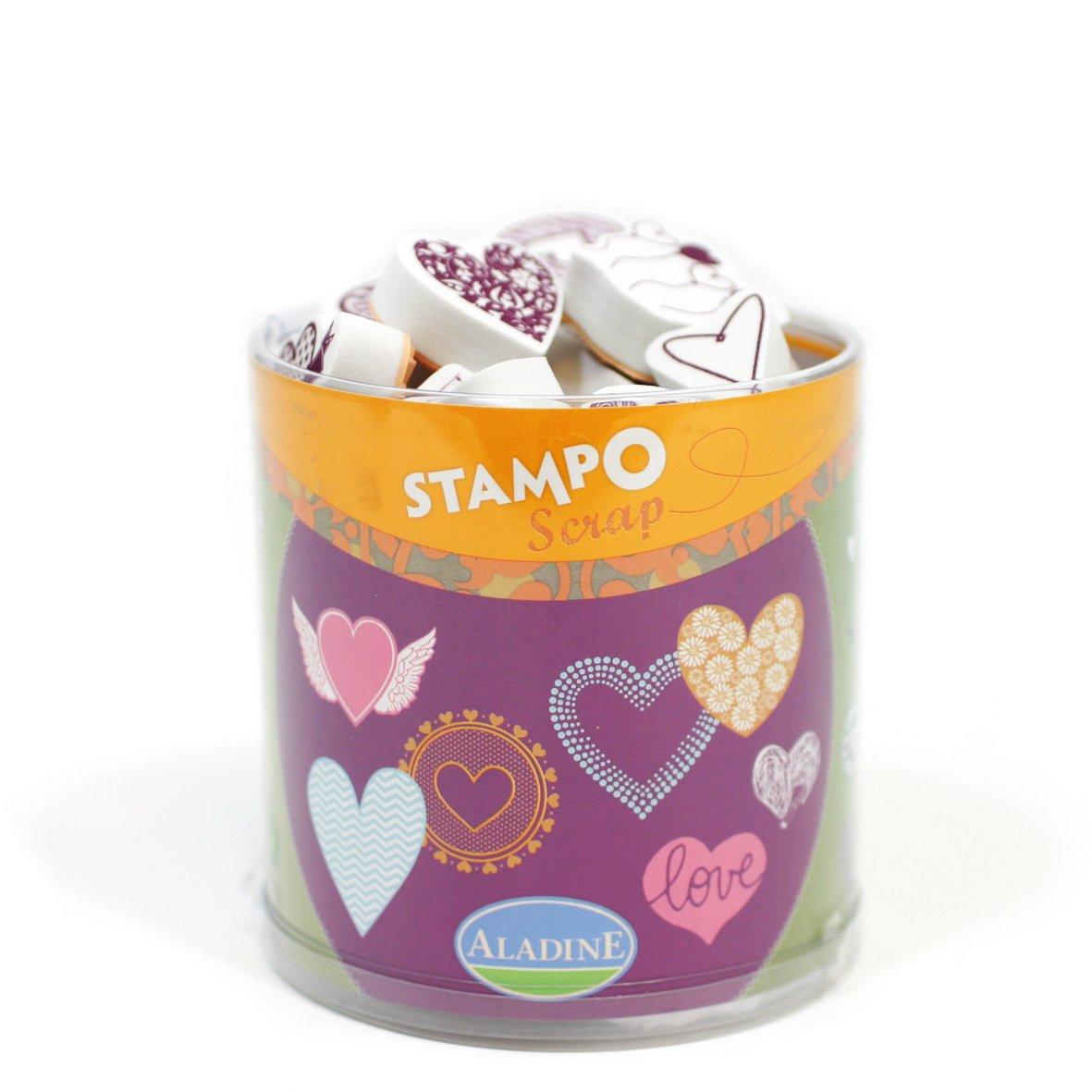 Aladine/ /Stampo Scrap/ /Stempel zu drucken/ /Herzen /03720/