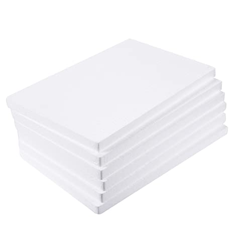 6 bloques rectangulares de espuma de poliestireno para manualidades, para esculturas, modelados, manualidades