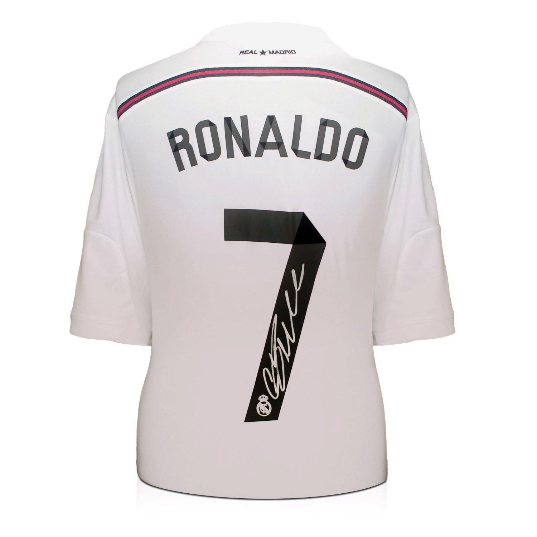 2014-15 Real Madrid camiseta de fútbol firmada por Cristiano Ronaldo: Amazon.es: Deportes y aire libre