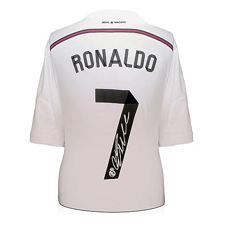 2014-15 Real Madrid camiseta de fútbol firmada por Cristiano Ronaldo