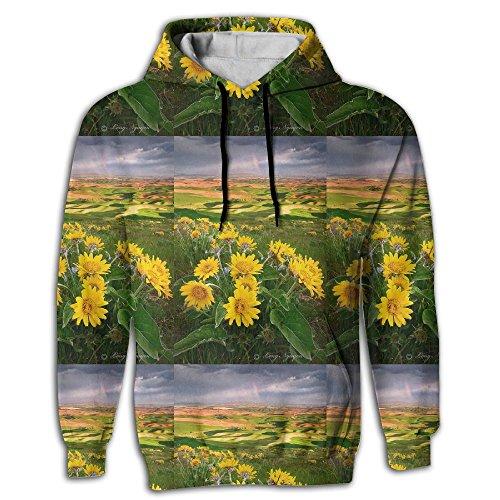 Palouse Sunset Washington State Men Cool Fashion Pullover Hoodie Hooded Sweatshirt