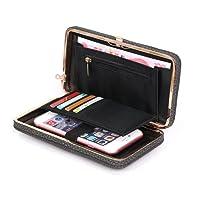 Aeeque Women Wallet Purse Clutch Ladies Handbag Wrist Strap PU Leather Phone Bag