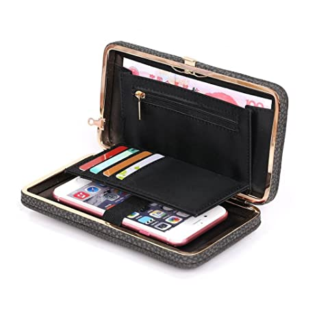 3c04d369fe Leather Ladies Purse Wallets - Coopay Women Phone Bags Case for Samsung S7  Edge S8 +