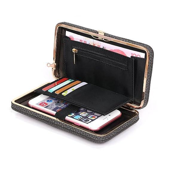 9310c3af85b Women Wallet Purse Clutch Ladies Handbag Aeeque [Wrist Strap] PU Leather  Phone Bag Zipper