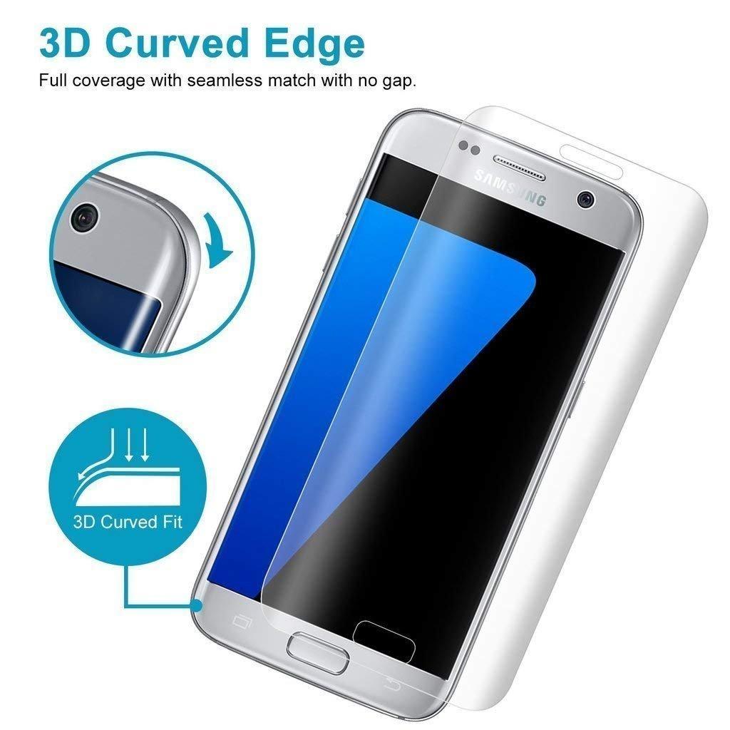 JTMALL [1 Unidades] Samsung Galaxy S6 Edge Cristal Templado Protector de Pantalla 9H Dureza Alta Definicion 0.26mm [3D Touch Compatibles] [Anti-Huellas]: ...