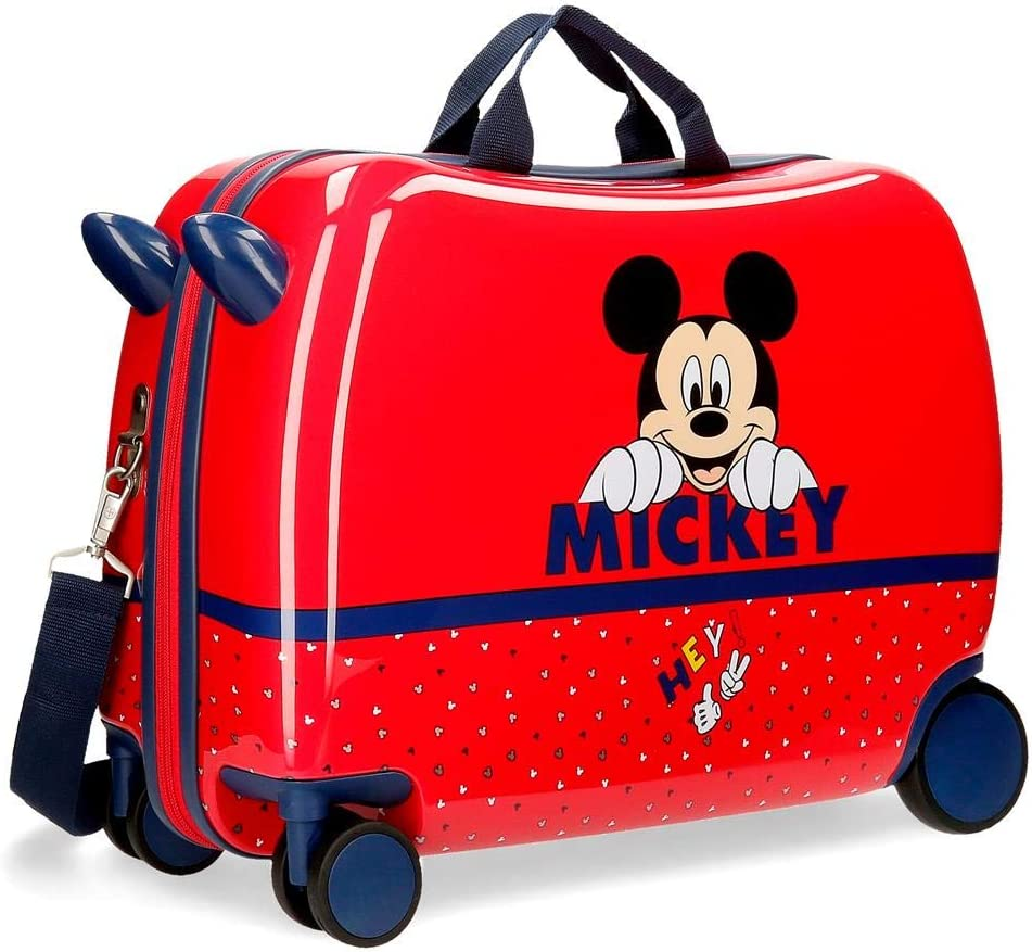 Disney Maleta Infantil Happy Mickey con Ruedas Multidireccionales