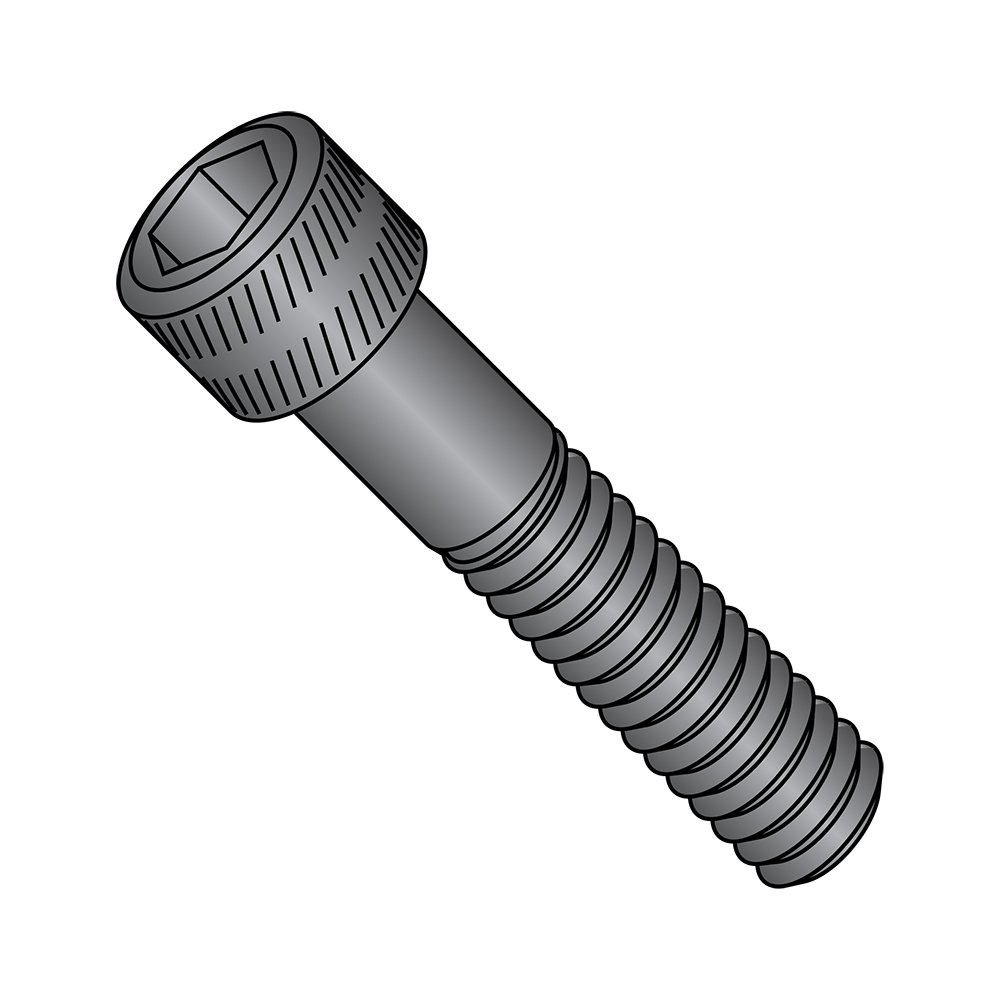 US Made Black Oxide Alloy Steel Socket Head Cap Screw Fully Threaded 2-56 Thread Size 1//4 Length Small Parts 0204CSP 1//4 Length Pack of 100 Hex Socket Drive