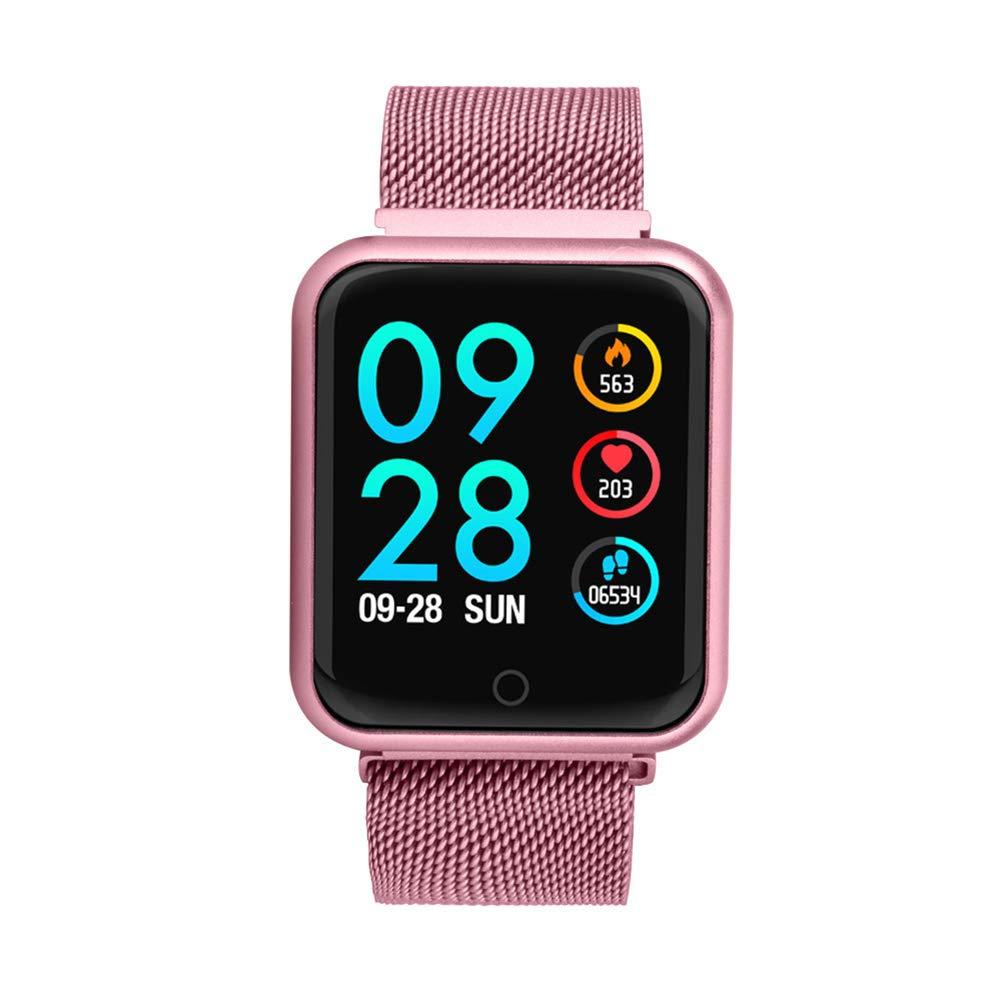 Smart watch Pantalla de Color Reloj Inteligente P68, Ejercicio Paso a Paso, Modo de Espera Largo, sueño, Ritmo cardíaco, presión Arterial, oxígeno, ...