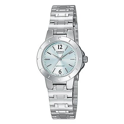 27f14bd6dbfd Casio LTP-1177A-3AEF – Reloj analógico de cuarzo para mujer con correa de  acero inoxidable