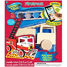 MasterPieces Works of Ahhh Firetruck Wood Paint Kit