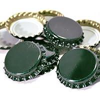 (Dark Green 100 Pk) - Crown Caps Dark