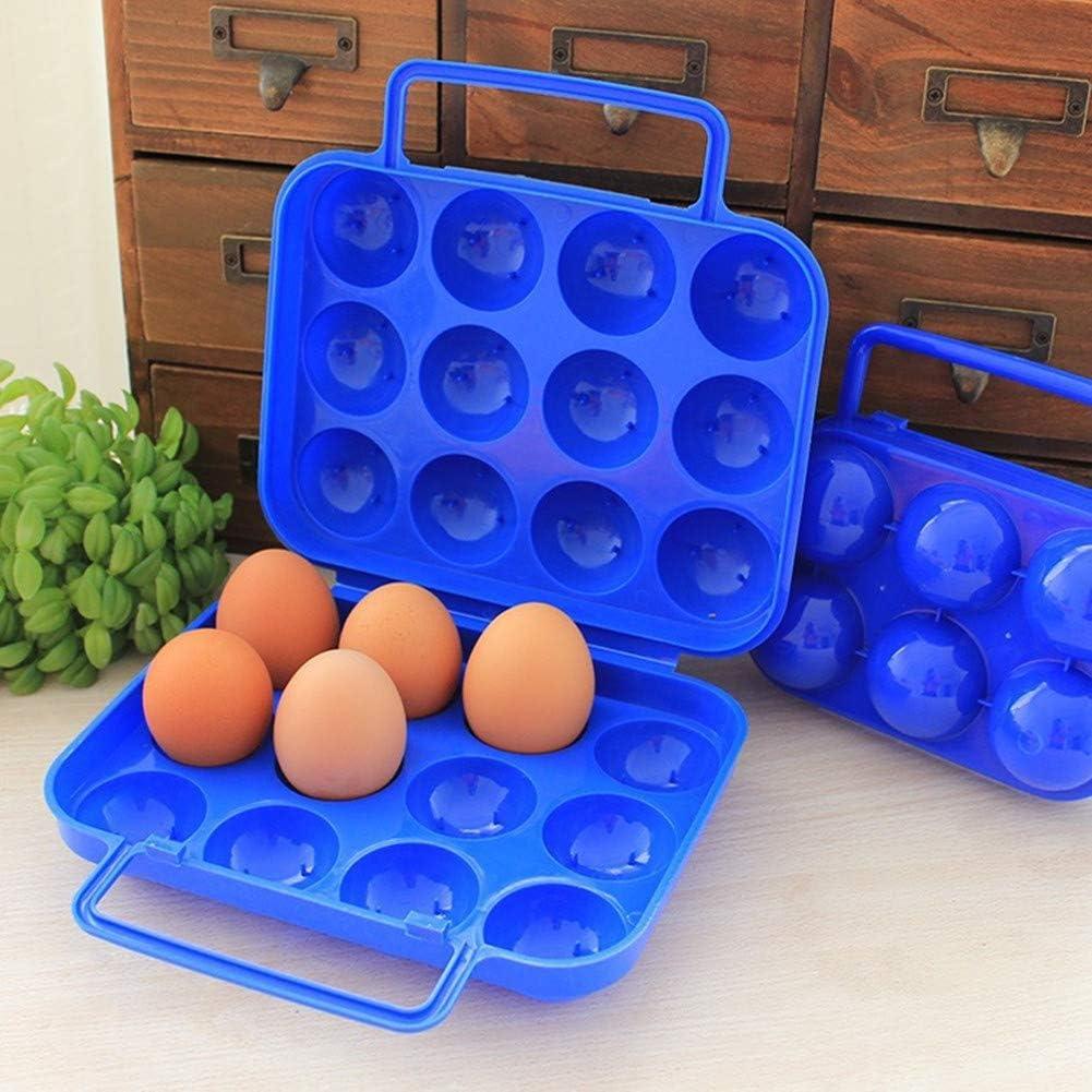 12 Uova per Cucina Ototon Portatile Scatola Porta Uova in plastica Viaggio Frigorifero Campeggio