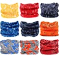 Neck Gaiter Headwear Headband Face Mask Seamless Bandana Tube Magic Scarf for Fishing, Motorcycle, Hiking, Runing 16 in 1 Multi Function for Kids, Women and Men