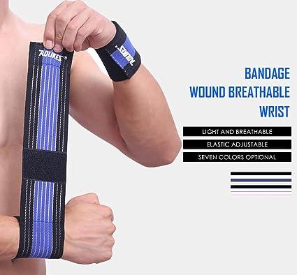 Amazon Com 1pcs Cotton Elastic Bandage Hand Sport Wristband Gym