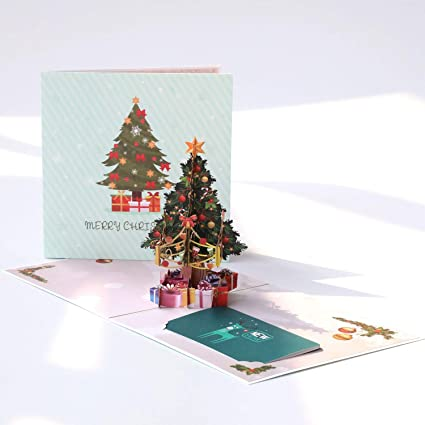 paper spiritz pop up christmas card christmas tree 3d pop up card holiday