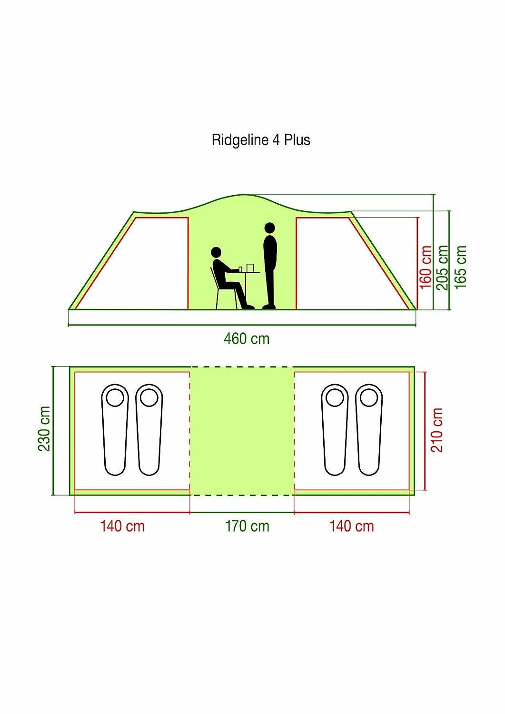 Coleman Zelt Ridgeline Ridgeline Zelt Plus mit Wohnbereich 2ca34f