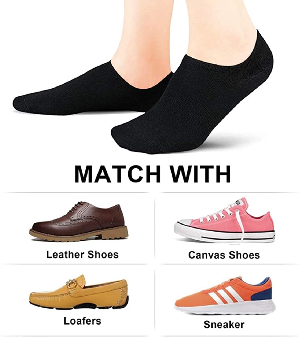Footwit No Show Socks Women 8 Pairs Low Cut Socks Non-Slip Invisible Ankle Sock Size 5-12