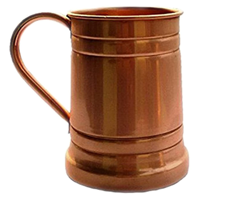 Copper Beer Stein Large Moscow Mule Mugs Brass Handle Parijat Handicraft BEER-STEIN-A