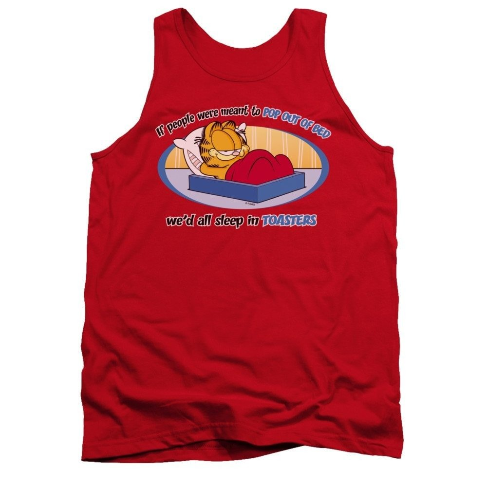 Garfield Pop Out Of Bed Adult Tank Top T-shirt