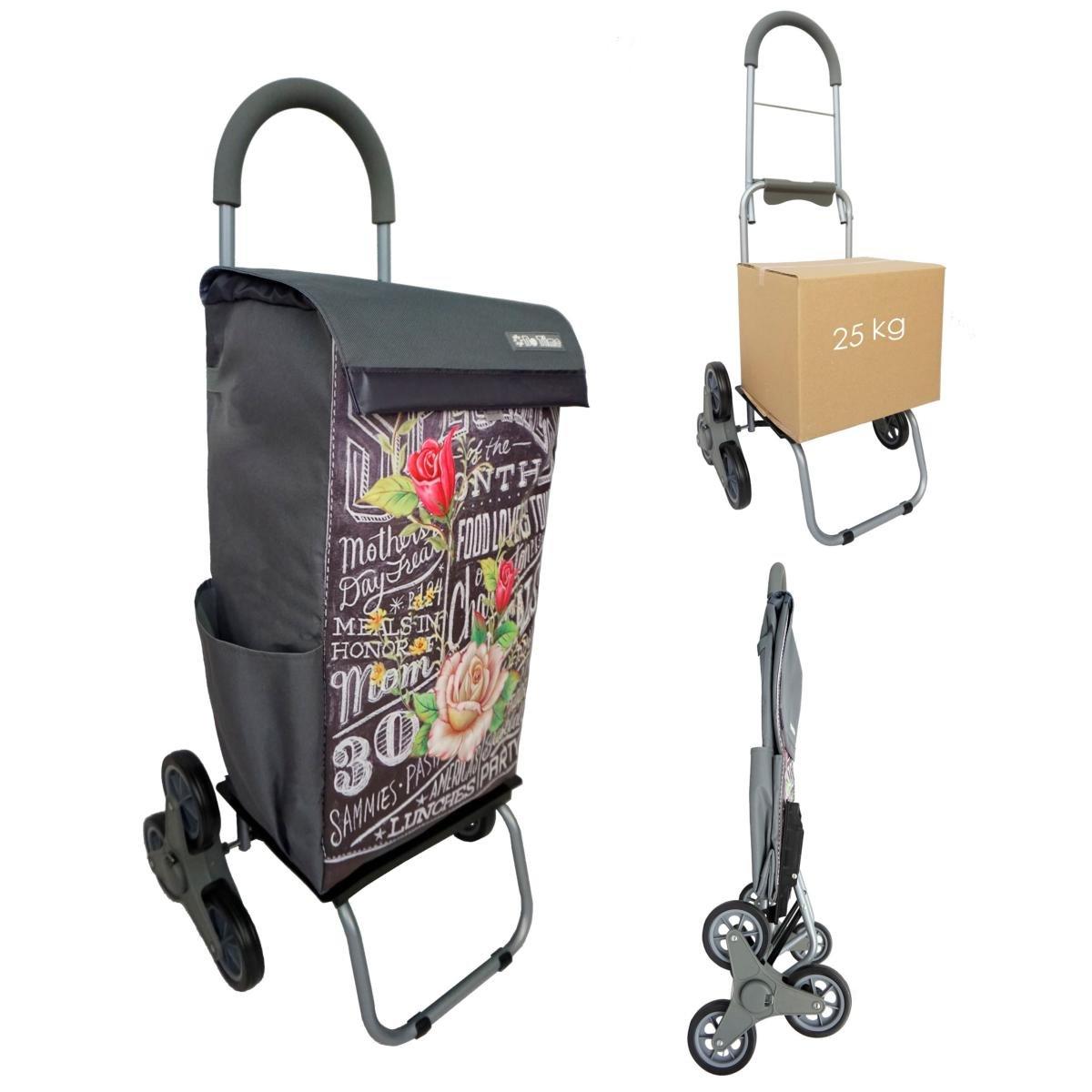 Chariot de courses Monte-Escalier BO TIME - Double utilisation - Capacité 40L