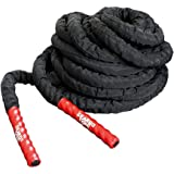 GEARDO Battle Rope - 1.5 & 2 Inches Width Poly Dacron 30/40/50 Feet Length Exercise Undulation Ropes - Gym Muscle Toning…