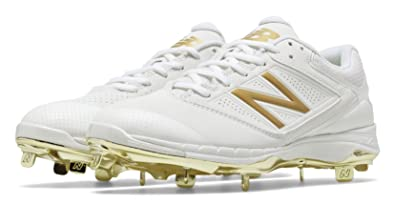 all white new balance cleats