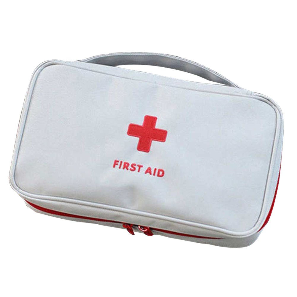 First Aid Bag Empty Home Office Emergency Treatment Survival Medical Rescue Pouch Beige
