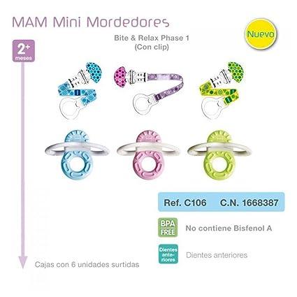 MAM - Mordedor Bite & Relax con Clip MAM 2m+