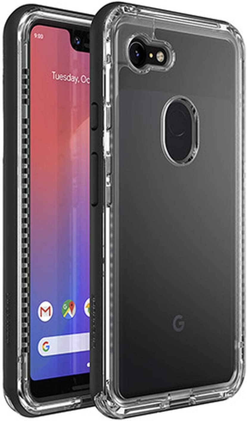 Lifeproof Next Series Case for Google Pixel 3 XL (ONLY) - Retail Packaging (Black Crystal Clear)