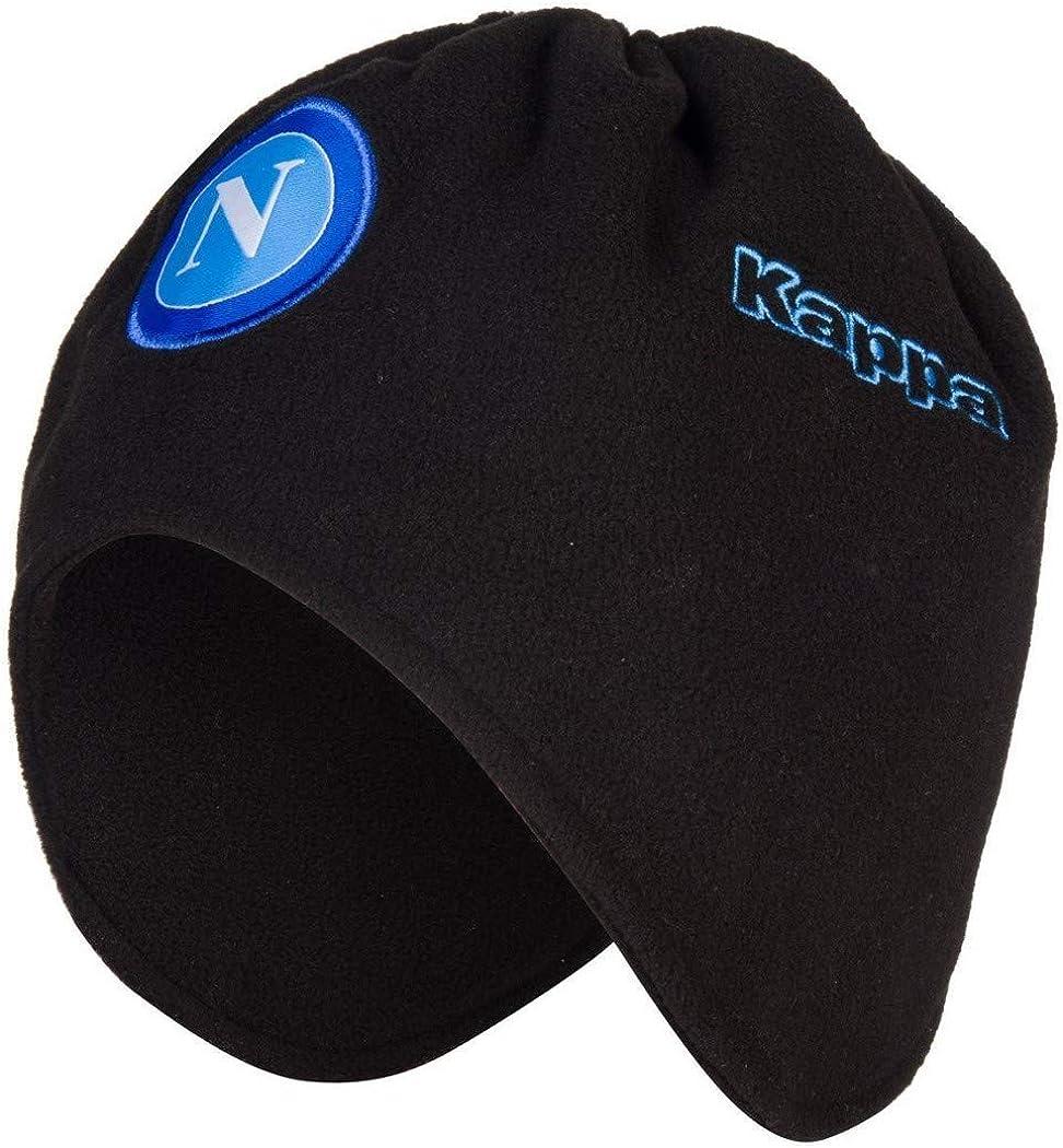 Kappa SSC Napoli - Sombrero de invierno 2019/20 - Color - Negro, medidas - liso