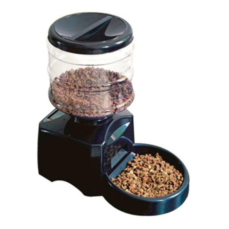 Harlls Harlls Harlls Alimentatore Automatico per Alimenti con Alimentatore Automatico 5.5L Alimentatore per Animali Domestici con Display LCD Timer per Registrazione Suoni programmabile per Cane - Nero f1e29a