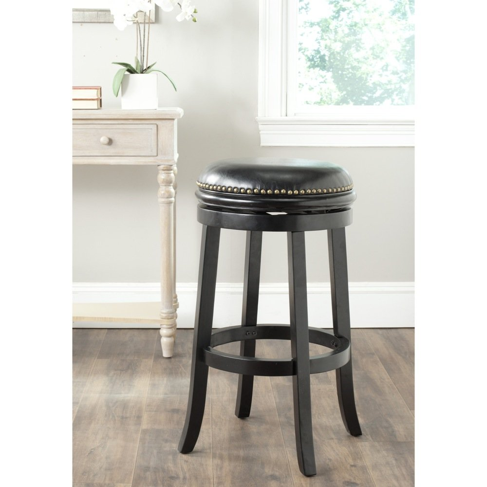 Safavieh Home Collection Biagio Black 29-inch Bar Stool