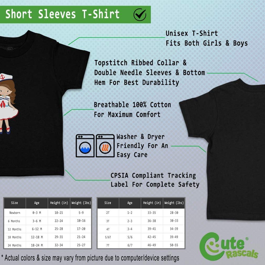 Custom Baby /& Toddler T-Shirt Nautical Girls Brown 2 Cotton Boy Girl Clothes
