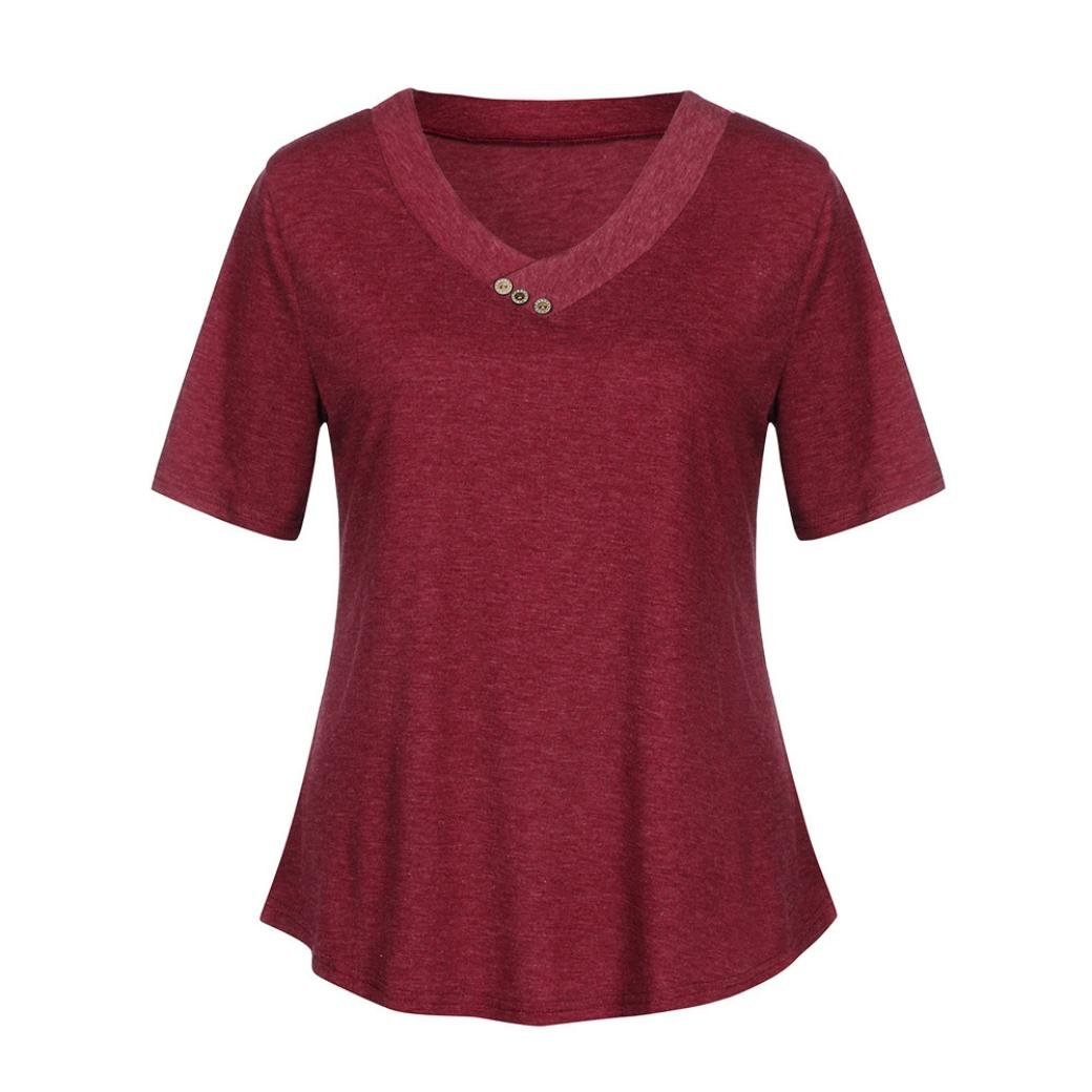Pervobs T-Shirt SHIRT レディース B07D77D2NR レッド XX-Large