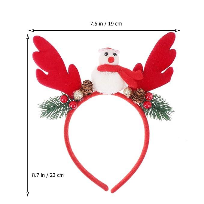 NUOBESTY diadema de navidad disfraz muñeco de nieve banda para el ...