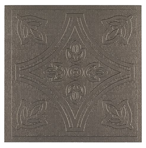 Achim Home Furnishings WTV303MT10 Metallo Wall Tile, 4 by 4-inch, Pewter/brown, (Pewter Wall Tiles)