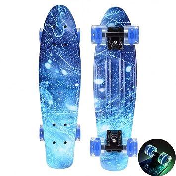 GDYYZYQ Space Galaxy Penny Board Mini Cruiser Skateboard De ...
