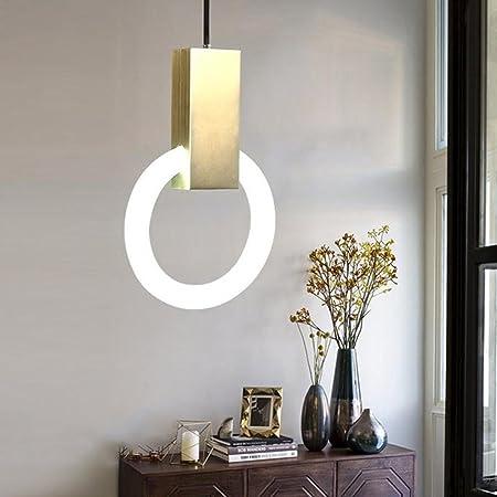 SX-CHENG $Lámpara Escalera Anillo Luces Lámparas Moderna Lámpara de Hierro Nordic Villa Sala de Comedor Comedor Luz Iluminación Interior (Tamaño : 21cm): Amazon.es: Hogar