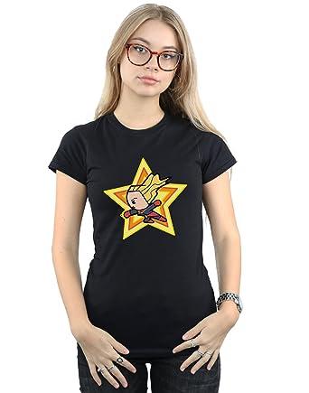 d6841f32 Amazon.com: Marvel Women's Kawaii Captain Marvel T-Shirt: Clothing