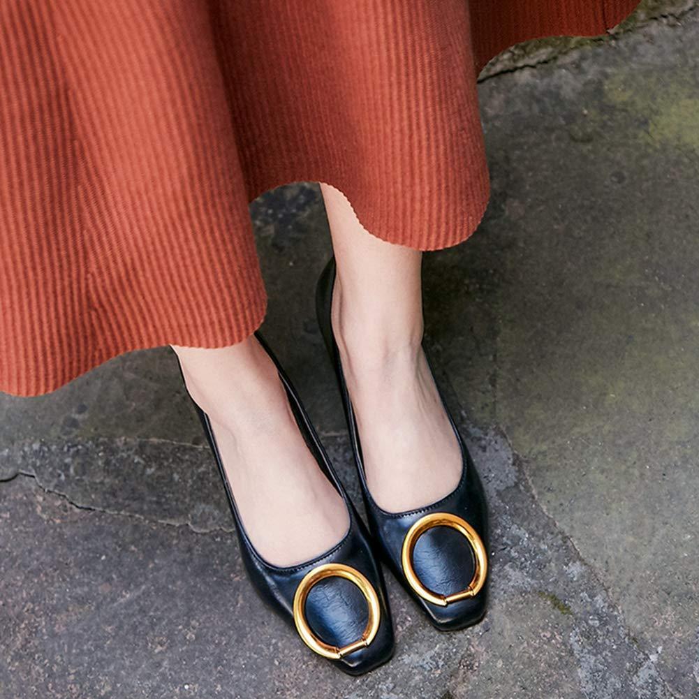 Damen Klassische Pump Oxford Oxford Oxford Schuhe Schnalle Karree Slip-On Chunky Plattform Block High Heel Oxfords 634c95