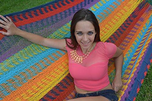 Hammock Multi Colored (Hammocks Rada - Super Cotton thick String - Mayan Style (Multicolored))