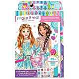 7 year old girl drawing - Make It Real – Fashion Design Sketchbook: Blooming Creativity. Inspirational Fashion Design Coloring Book for Girls. Includes Sketchbook, Stencils, Puffy Stickers, Foil Stickers, and Design Guide