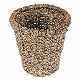 Homescapes Seagrass Natural Wicker Round Waste Basket