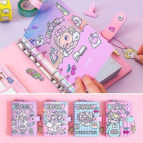 Amazon.com: Kawaii DIY Agenda Cuaderno A6 coreano espiral ...